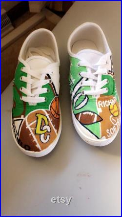 Hand-Painted, Custom Shoes