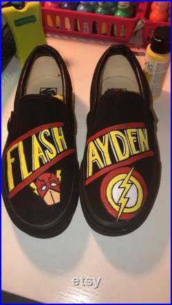 Hand Painted Custom Shoes flash