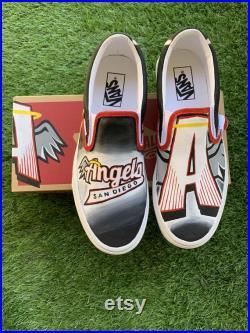 Hand Painted Custom Vans for San Diego Angels Girls Hockey Club