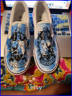 Hand Painted custom Ravenclaw shoes