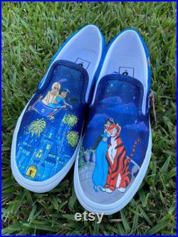 Hand painted custom Vans shoes