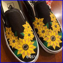 Handpainted Sunflower Vans