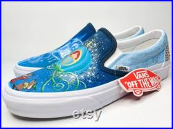 Harry Potter Hogwarts House Slytherin hand painted VANs ready to ship