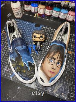 Harry Potter hand painted vans