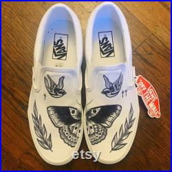 Harry Styles Inspired Custom Slip On Vans