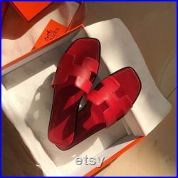 Hermes oran sandal ladies Gold tan flats all sizes 36 Eu to 42EU sandals 5 colors