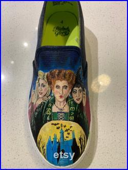 Hocus Pocus Painted Shoes