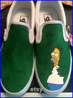Homer Backing into Bushes Vans