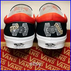 I Am Your Father's Day Present American Traditional Style Custom Painted Vans Shown In Dark Side
