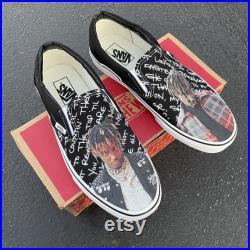 Juice Wrld Custom Sneakers Slip On Vans