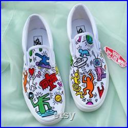 Keith Haring Slip-On Vans