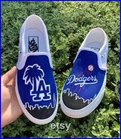 LA Dodgers Custom Vans