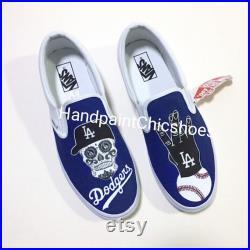 LA Dodgers Vans,Custom order,LA Dodgers shoes,Los Angeles Dodgers gifts,Baseball Team,Gifts for Husband,LA Dodgers by Handpaintchicshoes