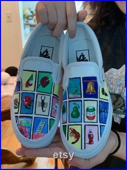 La Loteria Hand Painted Vans