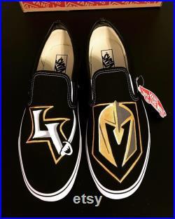 Las Vegas Golden Knights painted Vans