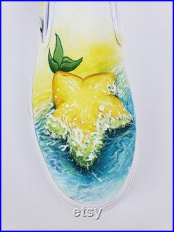 MEN'S Kingdom Hearts Dearly Beloved Hand Painted Vans Slip On Shoes