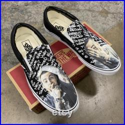 Mac Miller Custom Sneakers Slip On Vans