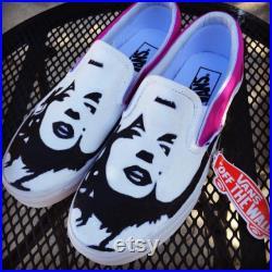 Marilyn Monroe Adult Custom Vans Shoes