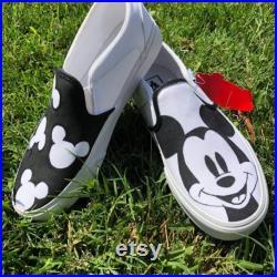 Mickey Mouse Custom Vans, Custom Sneakers , Custom Tupac Vans, Personalized Embroidery, Custom Van