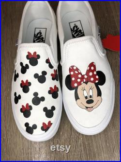 Minnie and Mickey Mouse vans
