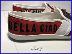 Money Heist ( La Casa de Papel ) custom made unisex shoes slip on iconic character urban style size 8
