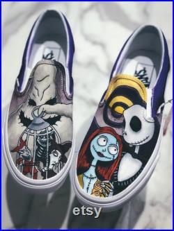Nightmare Before Christmas Slip On , Custom Vans , Vans Slip Ons , Slip On Vans Custom , Vans Custom , Custom Vans Shoes