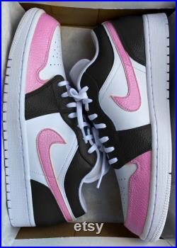 Nike Air Jordan Low X Black Pink Colour Block design. Available in Air Force 1. Customise Your Own Colours