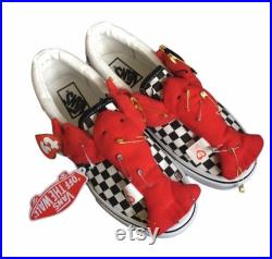 One of a kind Vans x Ty Rock Lobster Slip On checkerboard trainers uk size 4.5