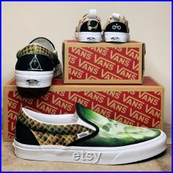 Pair Custom Painted Vans Set for Couples or Families