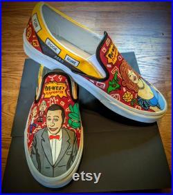 Pee Wee's Playhouse Painted VANS