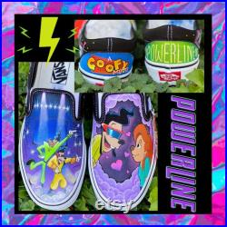 Powerline painted shoes