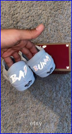 Reflective Bad Bunny Custom Slip On Vans