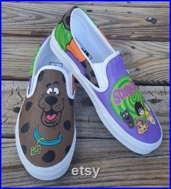 Scooby Doo Shoes Velma Fred Shaggy Daphne Custom Vans Toms Converse