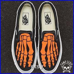 Skeleton Feet Custom Slip-Ons