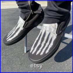 Skeleton Feet Vans Slip On Shoes for Men and Women