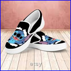 Stitch Custom Shoes, Lilo and Stitch Low Top Shoes Men Women Sneaker Perfect Gift for Friends Gift for Fan, Aloha Shoes, Disney Unisex Shoes