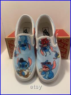 Stitch custom design Vans