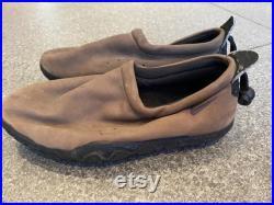 Super Rare Original 1994 Nike Air Mocs in Elephant Grey Brown With Purple Swoosh.