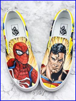 Superheros spiderman vs. superman