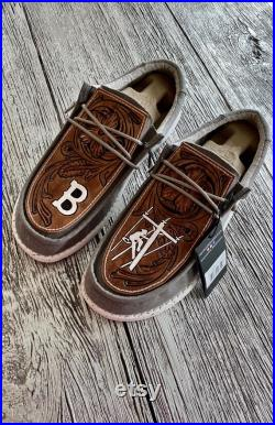 Tooled Leather Hey Dude Shoes