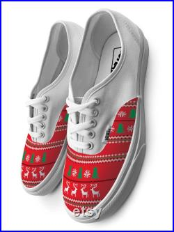 Ugly Christmas Sweater Authentic Laced Custom Vans Brand Shoes