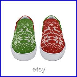 Ugly Christmas Sweater Slip On Shoes