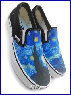 Van Gogh Starry Night Slip-on Custom Vans Brand Shoes