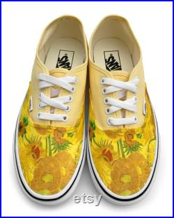 Van Gogh Sunflower Authentic Custom Vans Brand Shoes