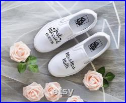 Wedding Marriage Couples With Wedding Date and Last Name Custom Shoes