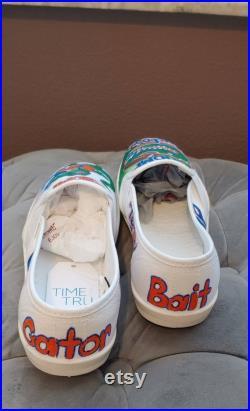 Women's and Men's Gator, University of Florida, Custom slip-on shoes