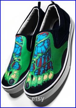 Zombie Feet Halloween Custom Vans Brand Slip-on Shoes