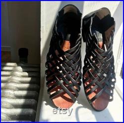 bohochic flats shoes sandals gypsy hippie viking woman vintage classic boho espadrille huarache medieval tribal darkacademia ethnic stripes